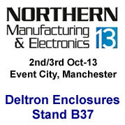 Deltron Enclosures to exhibit at Northern Manufacturing 2013
